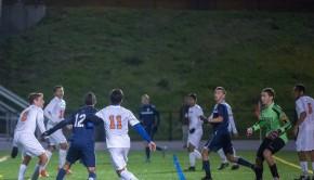 2014 FCIAC quarters vs Danbury - start of goal by Gudis