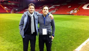 Martino and Mike Carey at Anfield
